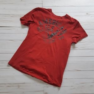 AEO Graphic Red Short Sleeve Mens Top